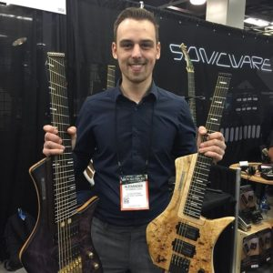 Alexander Claas from Claas Guitars at the NAMM Show 2018